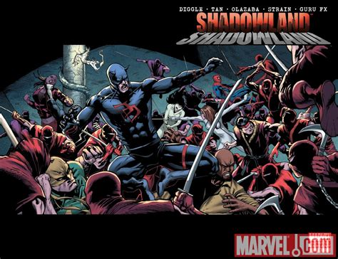 Komik Marvel Shadowland Thunderbolt shadowland