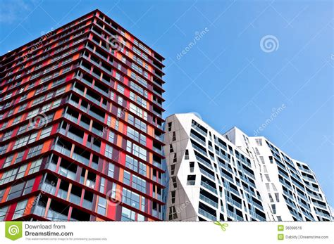 architectural design new apartment buildings modern apartment buildings royalty free stock image