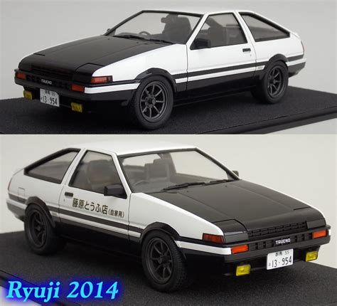 Aoshima Toyota Ae86 Sprinter Trueno Project D With Engine 1 24 aoshima ae86 01 by celsoryuji on deviantart