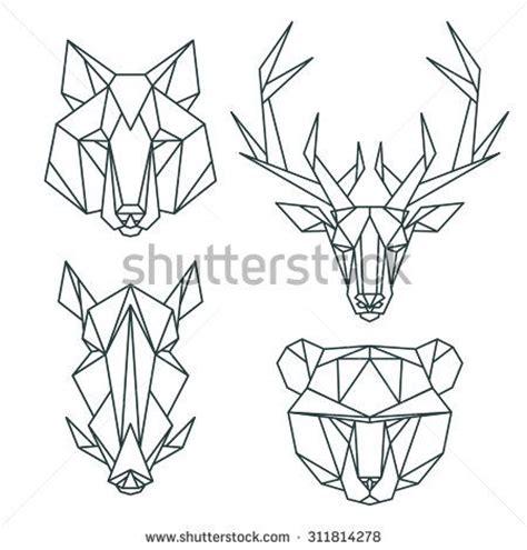 imagenes animales geometricos m 225 s de 1000 ideas sobre tatuaje de venado en pinterest