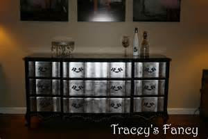 black and silver dresser items similar to provincial silver leaf dresser