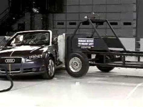 Audi A5 Crashtest by 267 2003 2009 Audi A4 Cabriolet Crash Test Consumer