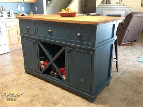 kitchen islands diy diy kitchen island addicted 2 diy