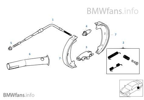 1er Bmw Bremsen Wechseln Preis by Feststellbremse Bremsbacken Bmw 3 E46 316ti N42 Europa