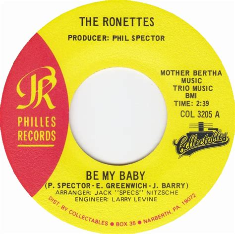 My Baby Record Book Blue Us Bby Brd Recb 45cat the ronettes be my baby so