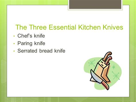 essential knives for the kitchen knife safety tips to keep you safe the kitchen ppt