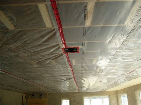 Our Straw House House Interior Vapor Barrier On Ceiling