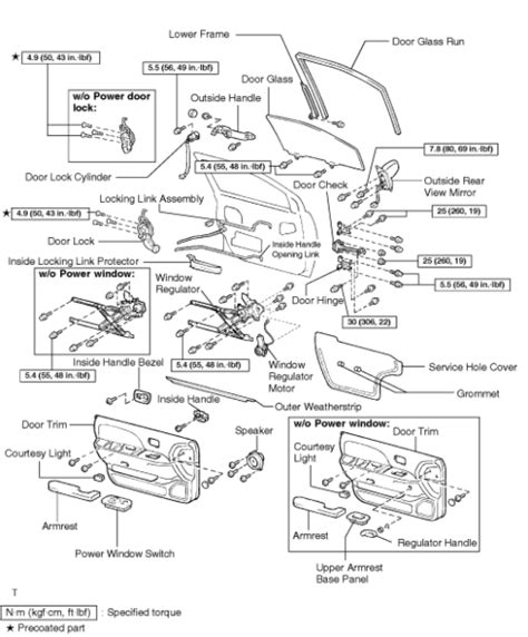 toyota sienna rear door parts diagram view toyota free engine image for user manual download repair guides interior door glass regulator autozone com