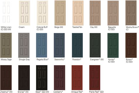door colors modern door color seaway select colors interior paint colors clad jambs available in these
