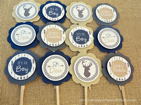 Baby Shower Topper by Deer Baby Shower Cupcake Toppers
