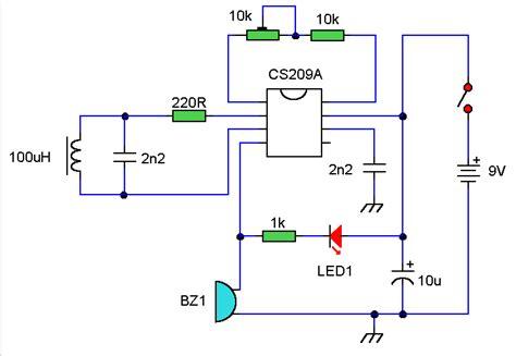 build circuit diy metal detector circuit