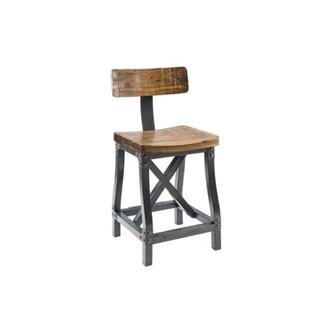 Rustic Wood Bar Stools With Backs by Cheyenne Rustic Industrial Counter Stool Dining