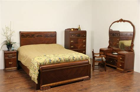 french art deco 5 pc 1930 antique bedroom set ebay waterfall bedroom furniture bedroom review design