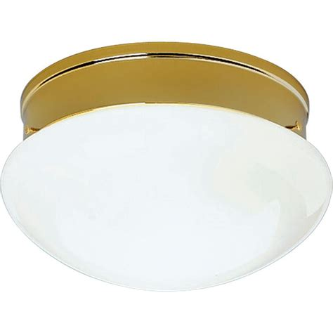 progress lighting polished brass 2 light flush mount the
