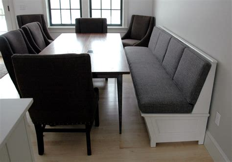 built in banquette bench custom banquettes and benches from vermont furniture makers