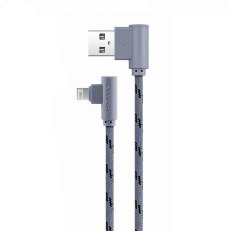 awei kabel charger lightning l shape 1 meter cl 91
