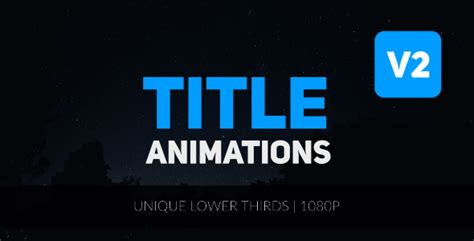 title animation after effects template title animations after effects template videohive