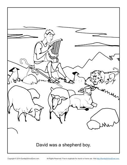 David The Shepherd Boy Coloring Pages Printable David Was A Shepherd Boy Coloring Page Children S Bible by David The Shepherd Boy Coloring Pages Printable