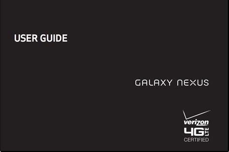 verizon s samsung galaxy nexus user manual available now gadgetian