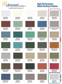 Superb Homes With Metal Roofs Photos #7: Drexel-Color-Chart.jpg
