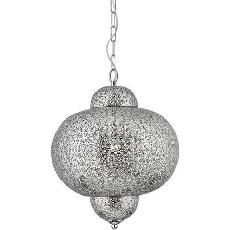 Moroccan Ceiling Light Searchlight 9221 1ss Moroccan 1 Light Ceiling Pendant Shiny Nickel