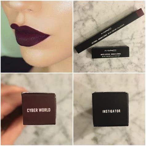 Lipstik Purbasari Burgundy mac instigator lipstick cyber world liner matte lipsticks cyber and macs