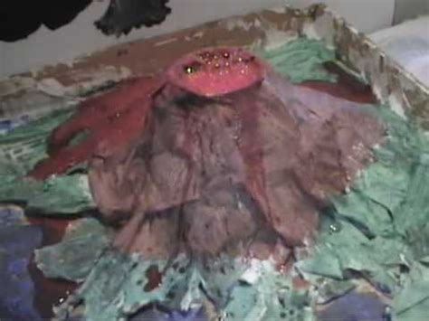 How To Make A Paper Mache Volcano Model - paper mache volcano by ally