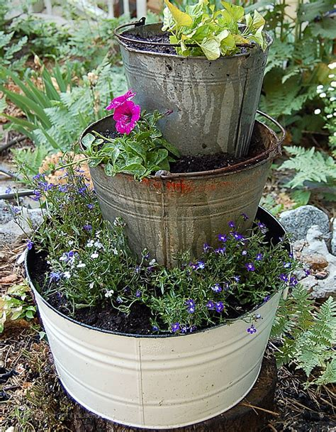 Garden Barrel Planter by Buckets Wine Barrel Planter Hometalk