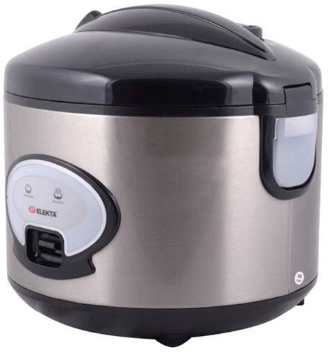 Rice Cooker Yongma 1 Liter elekta 1 8 liter rice cooker with stainless steel outer shell black and silver erc 186ss