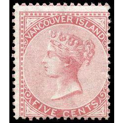 libro vancouver island itm r v british columbia 5 queen victoria 1865 5 162 mint very good original gum m vgog 008