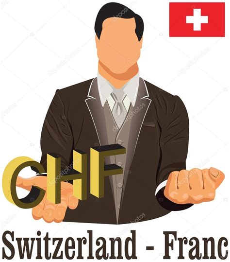 Switzerland Currency Symbol Franc Chf Representing Money