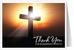 thank you for worshipping ministry greetings christian cards church postcards visitor cards