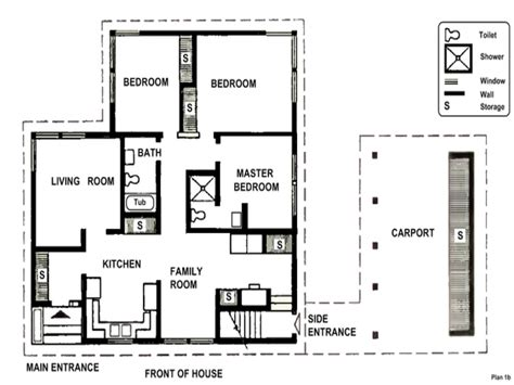 Floor Plans For Small 2 Bedroom Houses 2 Bedroom House Simple Plan Small Two Bedroom House Plans