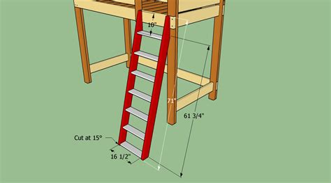How To Make A Bunk Bed Ladder How To Build A Loft Bed Ladder The Best Bedroom Inspiration