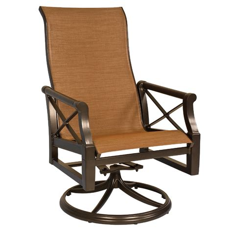 Swivel Rocking Patio Chairs Andover Sling High Back Swivel Rocker From Woodard Furniture