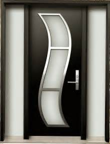 modern wood door modern contemporary door modern wood door with stainless steel s design installed in toronto