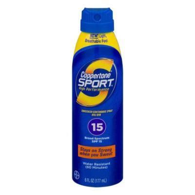 Review Coppertone To Go Spray Spf 15 by Coppertone Sport 174 Spf 15 Continuous Sunscreen Techniblock 174