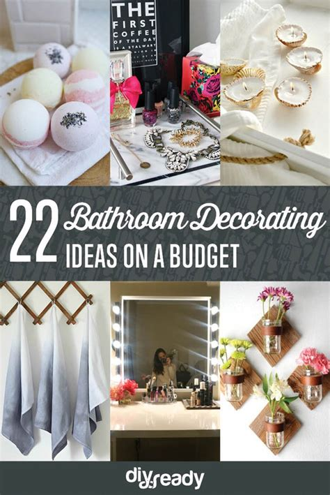 bathroom decor ideas diy bathroom decorating ideas on a budget diyready easy