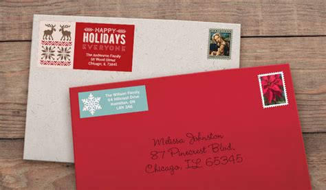 Holiday Address Labels Cheap