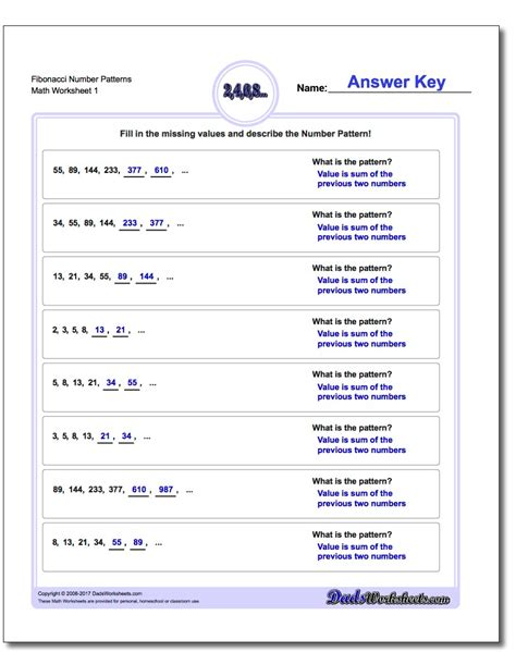 number pattern exam questions multiplication place value patterns worksheets decimal