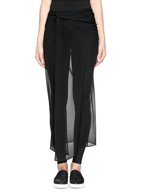 Skirt Legging Black lyst edition10 asymmetric silk chiffon skirt with