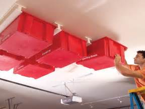 Garage Ceiling Storage Solutions by Overhead Sliding Door Hardware Garage Ceiling Storage