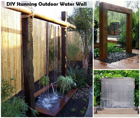 garden water wall diy stunning outdoor water wall do it yourself ideaz