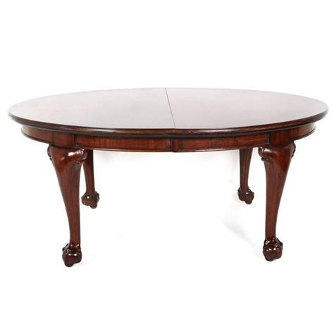 Chippendale Dining Room Table by English Mahogany Chippendale Revival Oval Dining Table