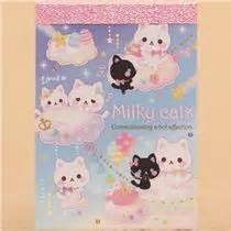 Satin Clouds Heavenly Cotton Pads by Kawaii Mini Memo Pad Kitten Cloud Heaven Animal Memo
