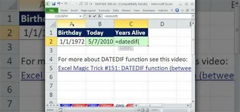 how to calculate years how to calculate age in years with datedif today in excel 171 microsoft office