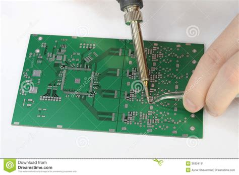 resistors function circuit board soldering resistor to printed circuit board stock photo image 39304191