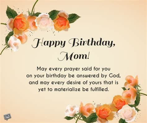 Happy Birthday May God Fulfill All Your Wishes Birthday Prayers For Mothers Bless You Mom