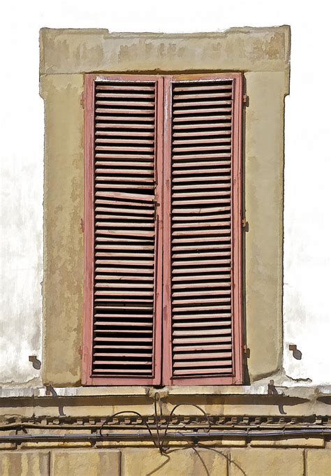 Tuscan Window Shutters Weathered Brown Wood Window Shutters Of Tuscany Photograph