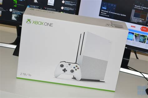 xbox one console box on with the xbox one s mspoweruser
